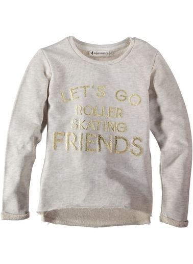 Varak Baskılı Sweatshirt-Asymmetry